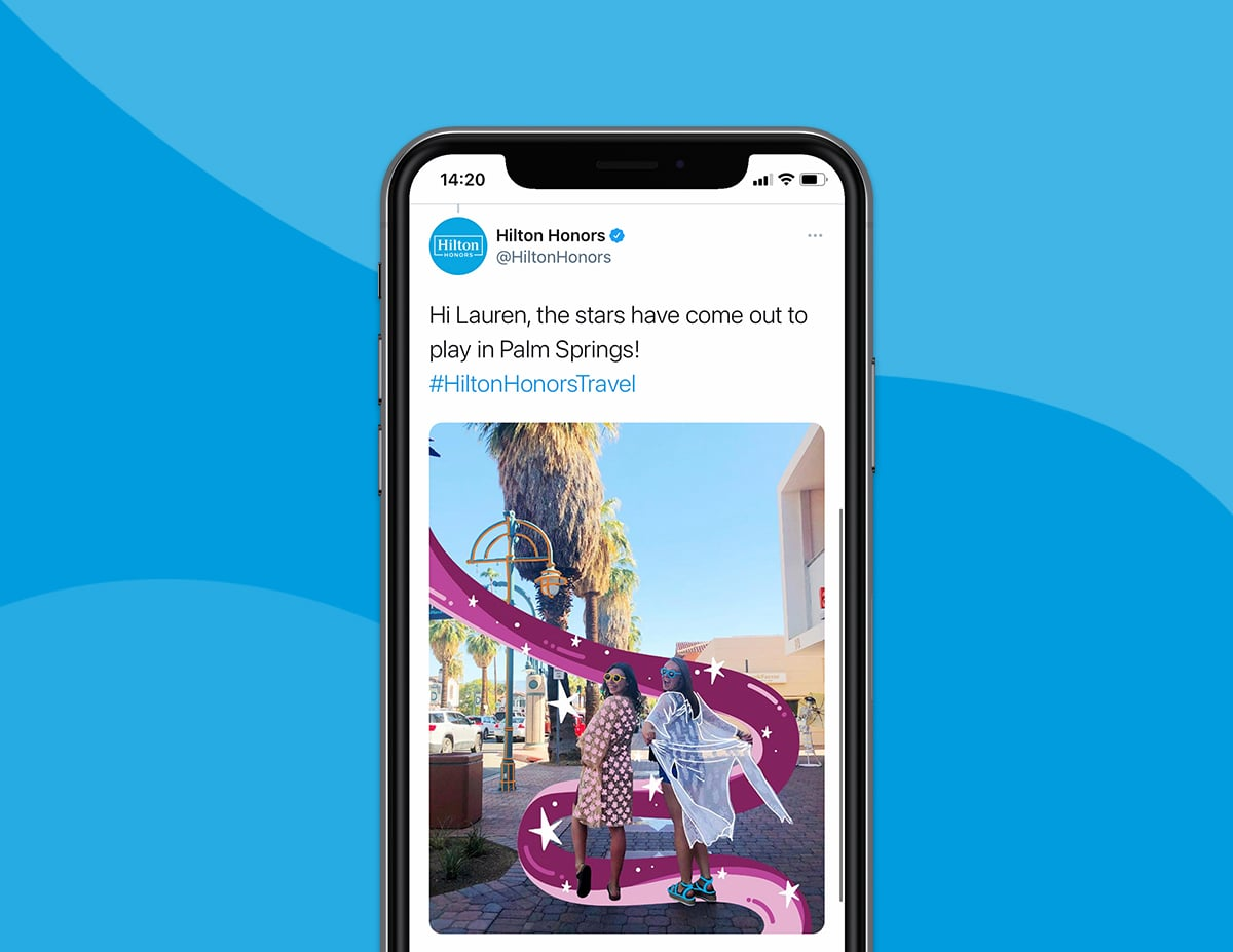 Hilton Honors Travel Twitter Campaign